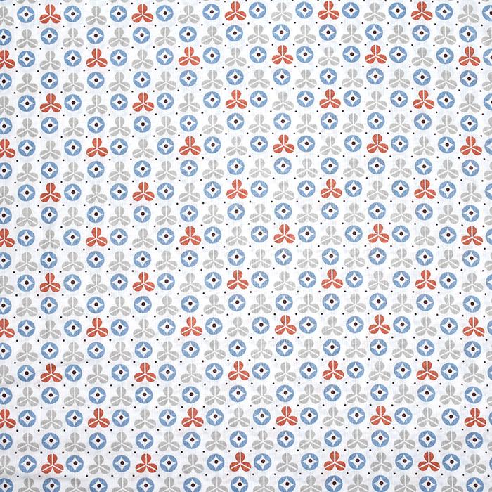 Bombaž, poplin, geometrijski, 22226-5, modra