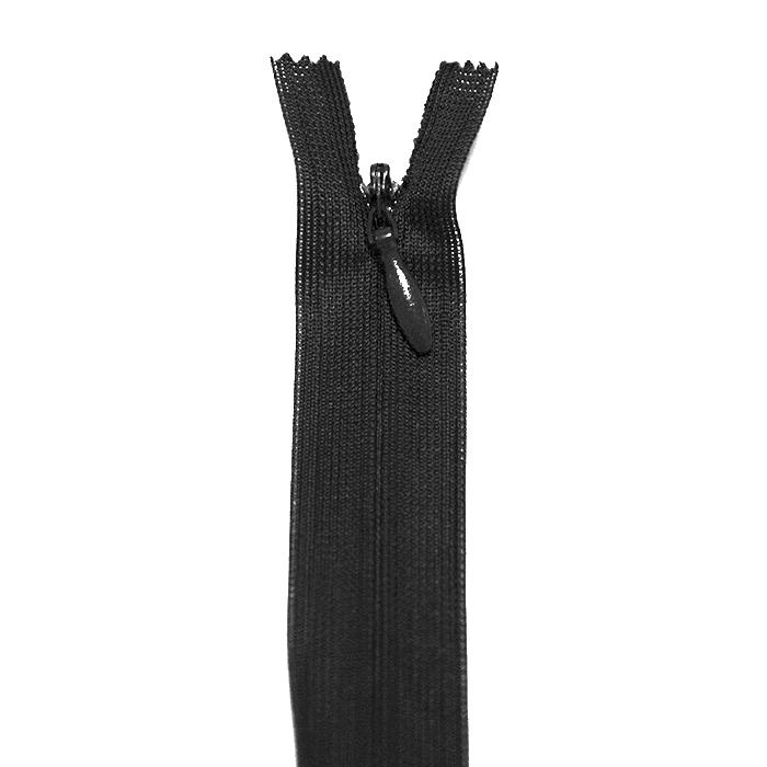 Zatvarač, skriven 22 cm, 04 mm, 22216-580, crna