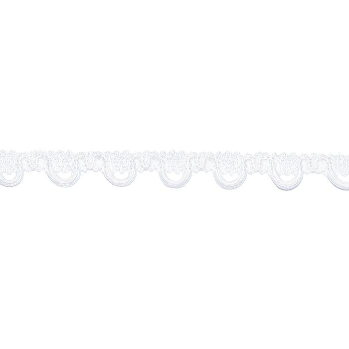 Trak, okrasni, čipka, 22253-001, bela