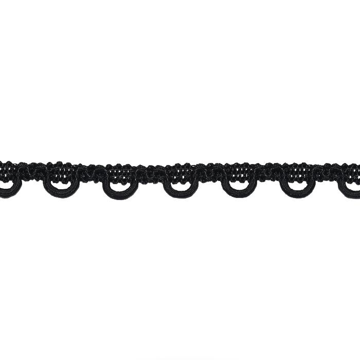 Trak, okrasni, čipka, 22253-002, črna