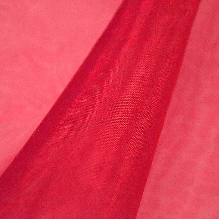Organza, poliester, 22281-6518, rdeča