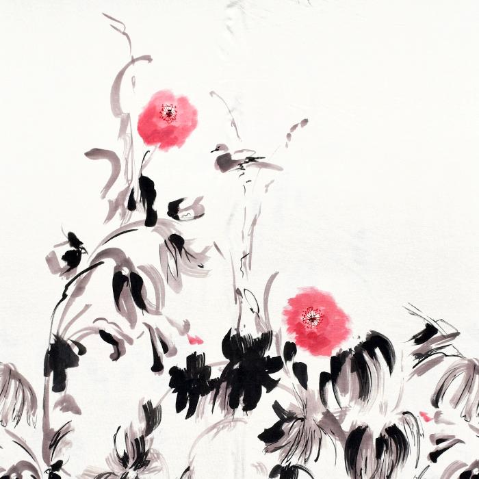 Jersey, viskoza, cvetlični, 21776-140