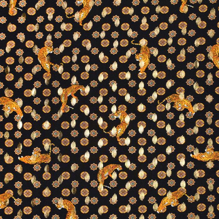 Tkanina, viskoza, životinjski, 22449-999, crna