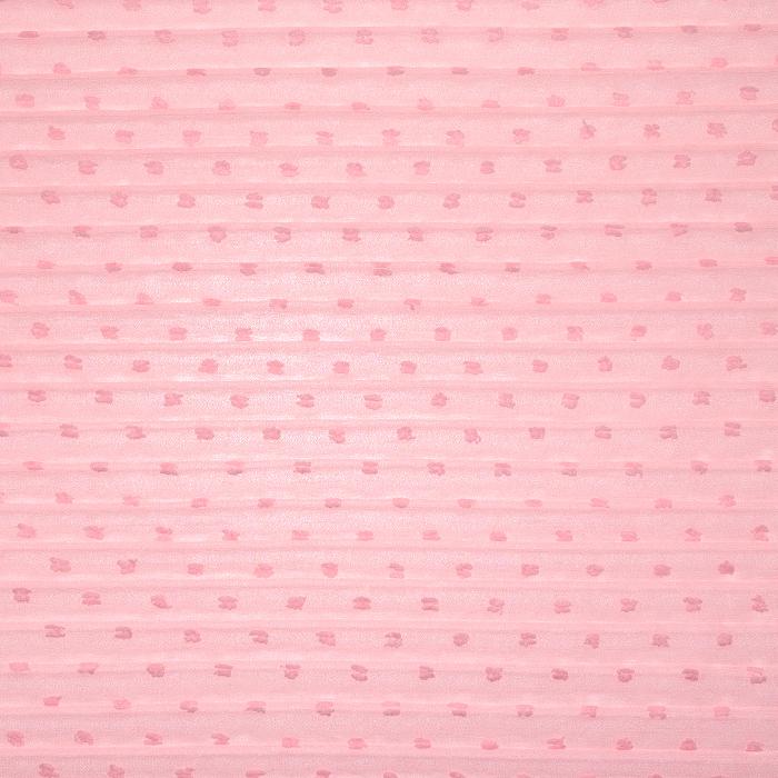 Šifon, plise, točke, 22519-5017, ružičasta
