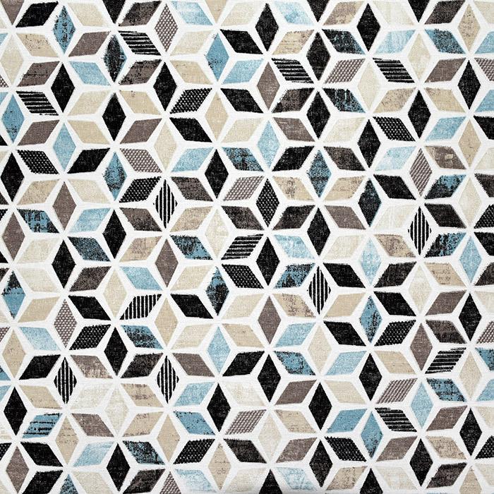 Deko, tisk, geometrijski, 22665, modra