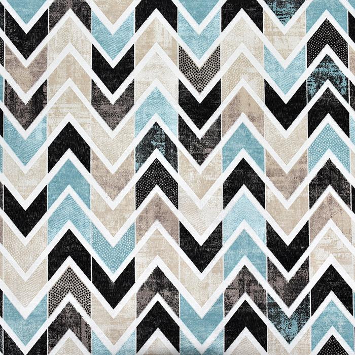Deko, tisk, geometrijski, 22667, modra