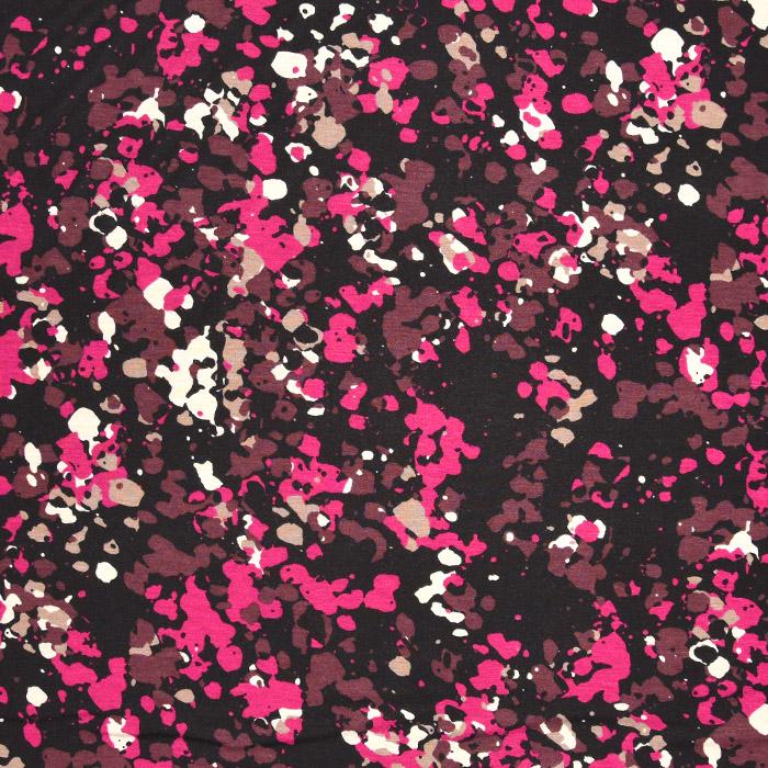 Jersey, viskoza, tisk, 22686-110, roza
