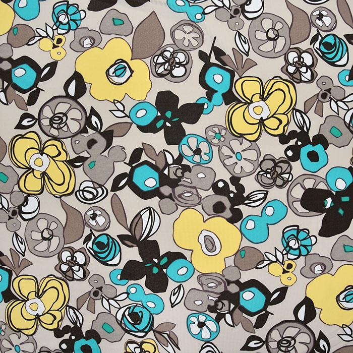Jersey, viskoza, filamentna, cvetlični, 22686-119