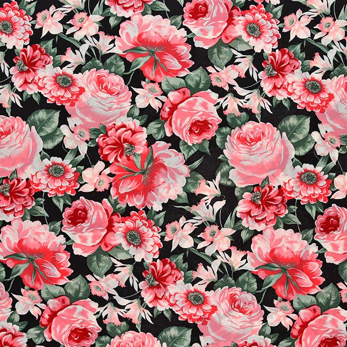 Jersey, viskoza, filamentna, cvetlični, 22686-134