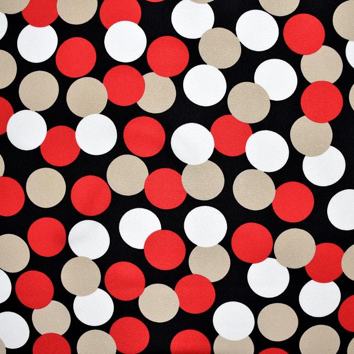 Tkanina, viskoza, krep, pike, 22572-1, rdeča
