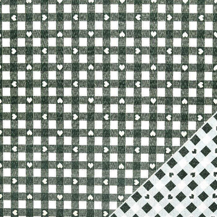 Deko žakard, obojestranski, kare, 22813-37, zelena