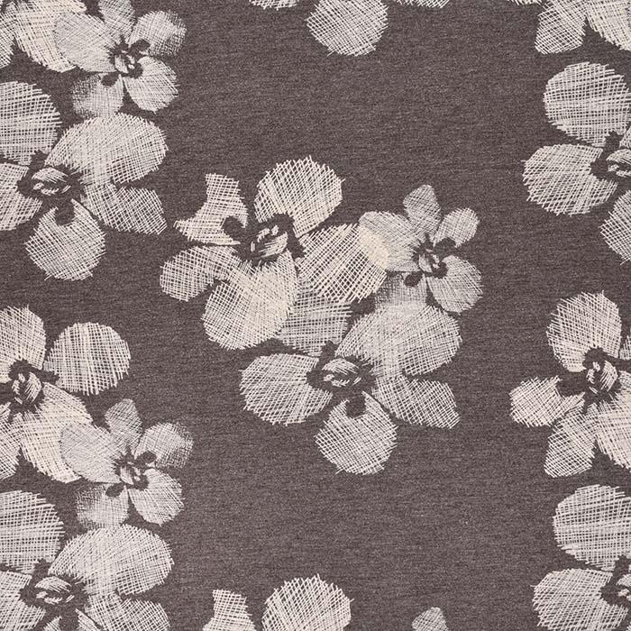 Jersey, viskoza, cvetlični, 22686-300, bordovijola