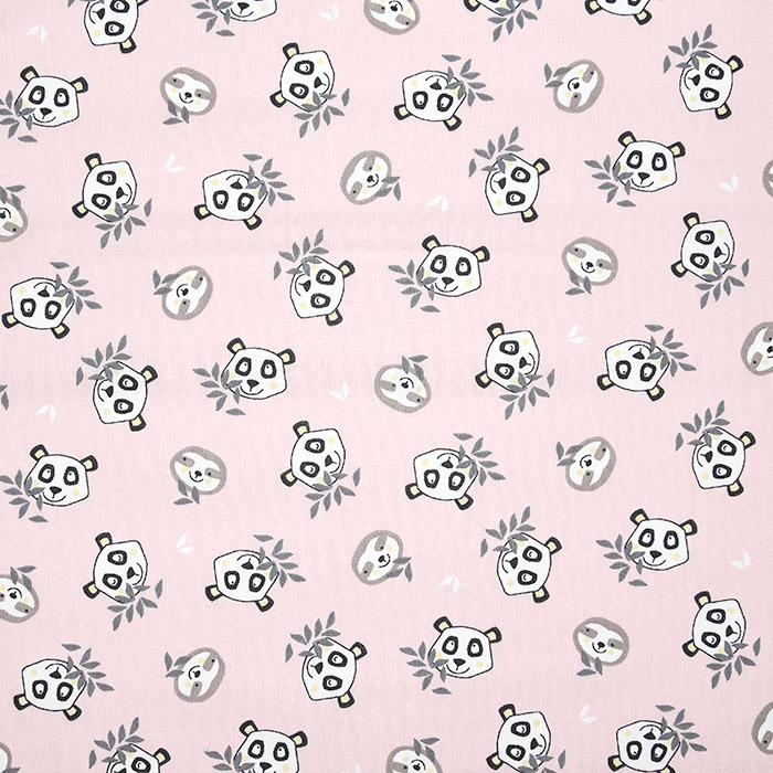 Bombaž, poplin, živalski, 22842-1, roza