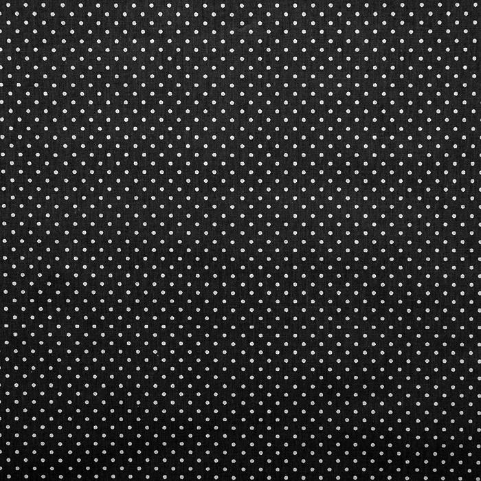 Bombaž, poplin, pike, 13984-9, črna