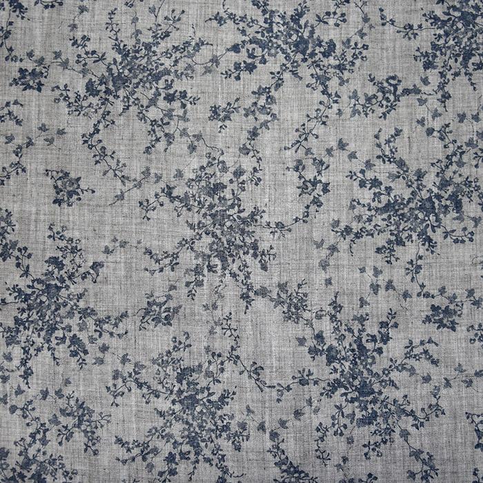 Tkanina, tanjša, cvetlični, 22521-43, siva