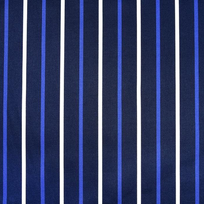 Saten, bombaž, črte, 22521-50, temno modra