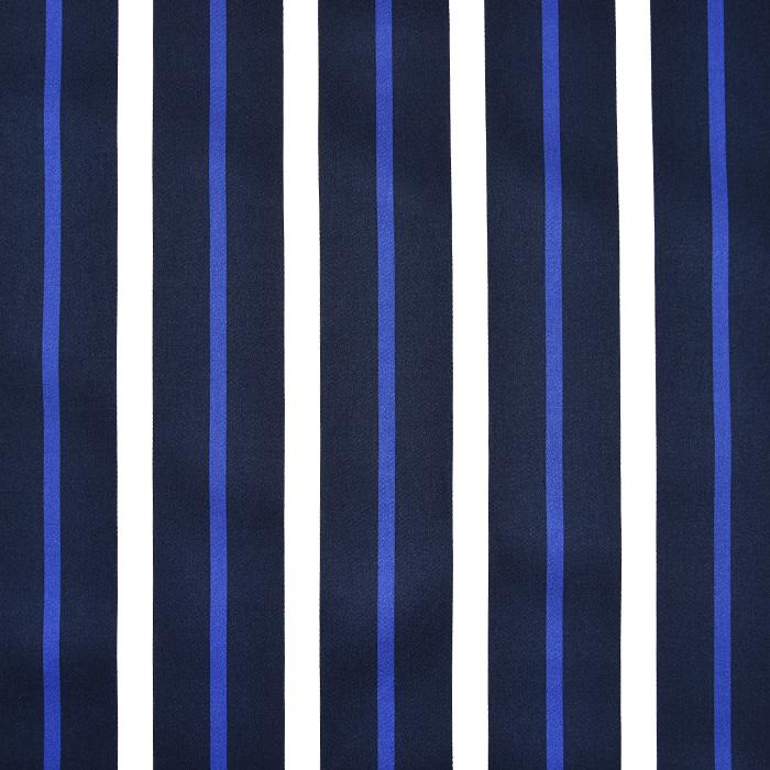 Saten, bombaž, črte, 22521-56, temno modra