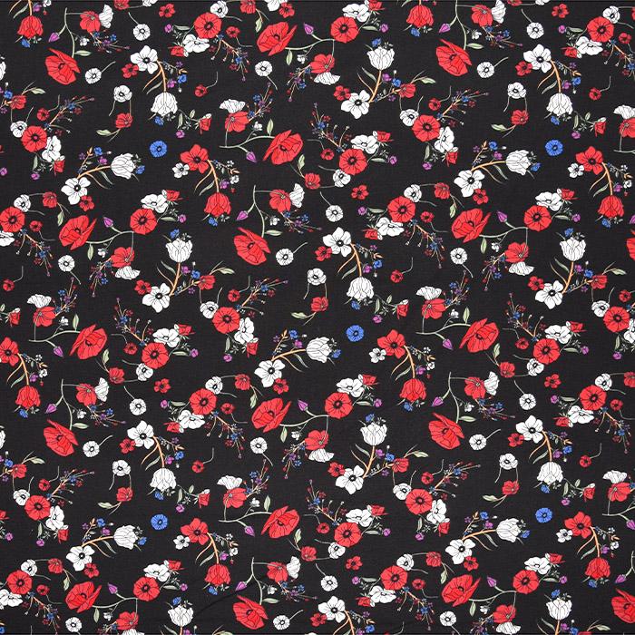 Jersey, viskoza, cvetlični, 22893-4