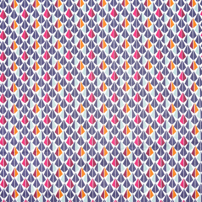Bombaž, poplin, geometrijski, 19482-4, vijola