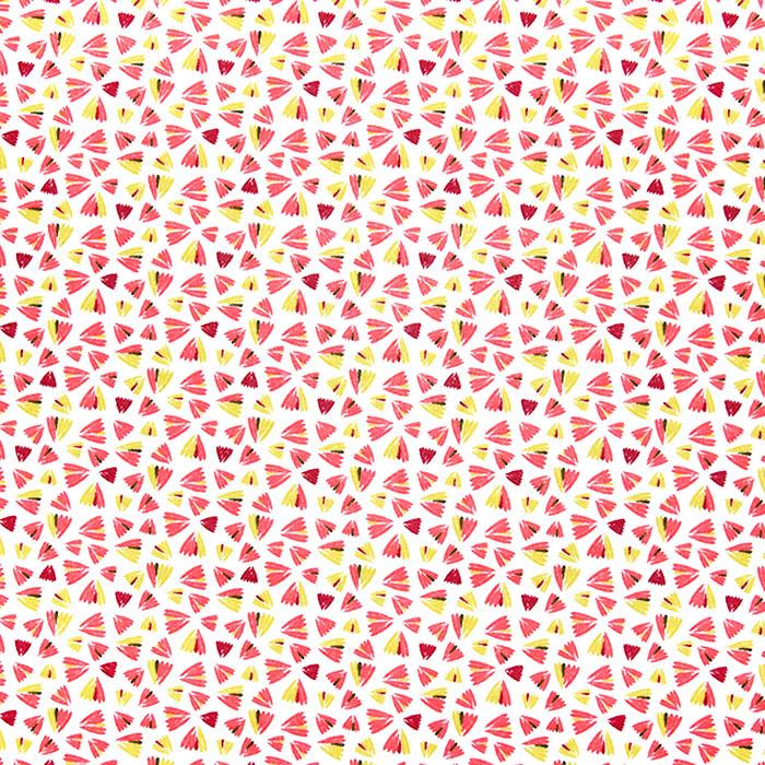 Bombaž, poplin, geometrijski, 23021-1, roza