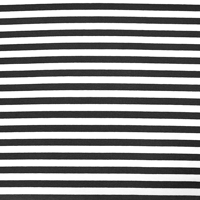 Jersey, viskoza, črte, 22892-20, črna
