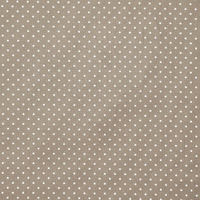 Bombaž, poplin, pikice, 17950-019, rjava