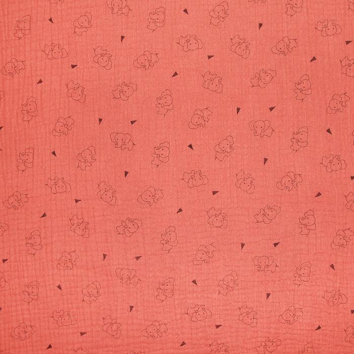 Tetra tkanina, trojna, živalski, 23244-214, oranžnoroza
