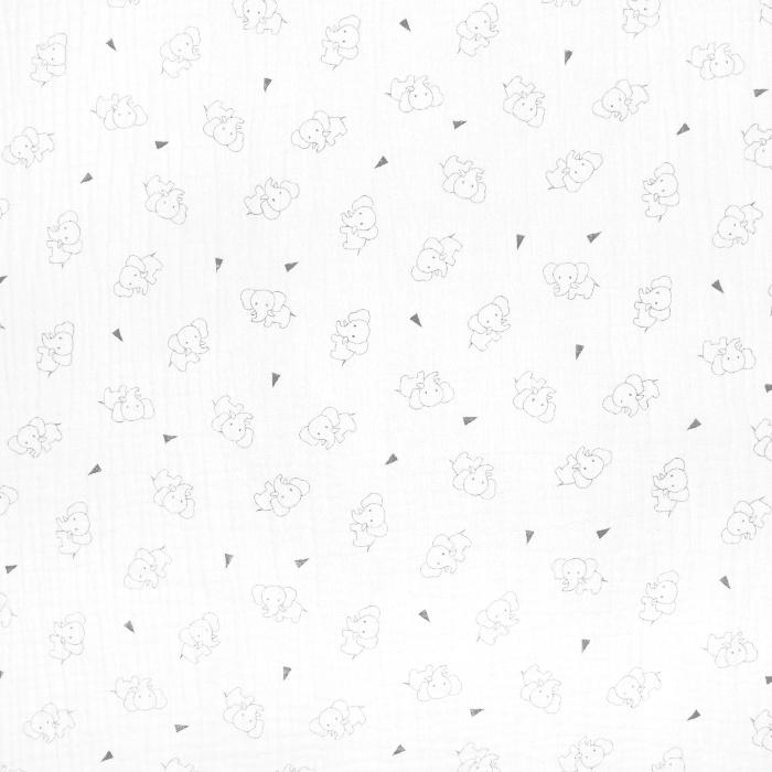 Tetra tkanina, trojna, živalski, 23244-250, bela