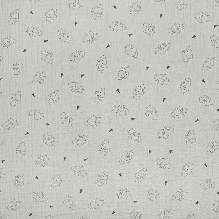 Tetra tkanina, trojna, živalski, 23244-252, sivobež