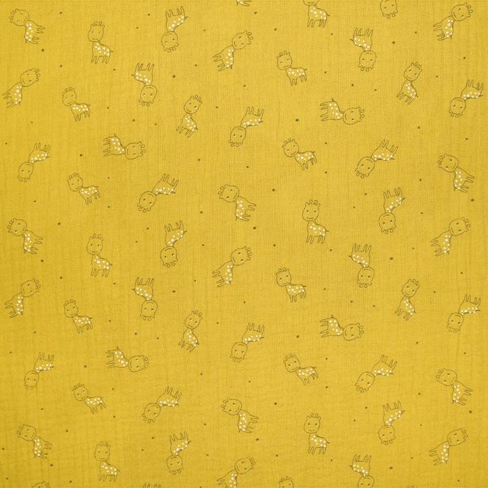 Tetra tkanina, trojna, živalski, 23244-385, oker