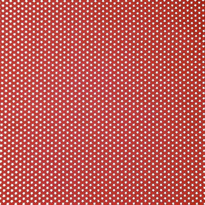 Bombaž, poplin, zvezde, 19657-004, rdeča