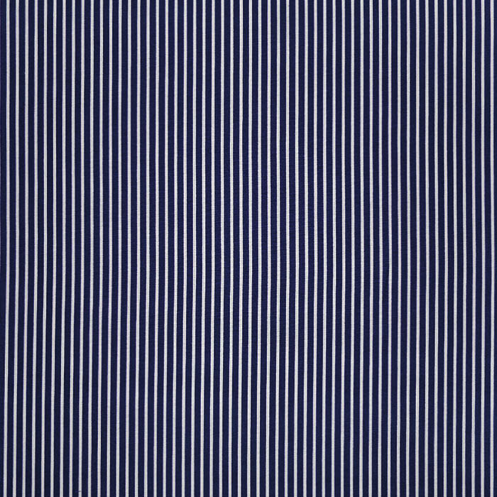 Bombaž, poplin, črte, 23367-002, temno modra