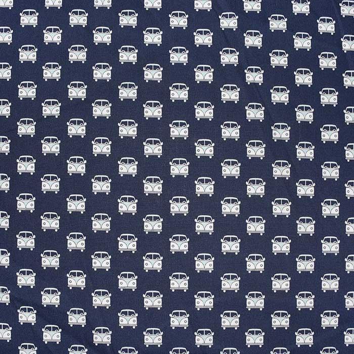 Bombaž, poplin, retro, 23279-15, temno modra