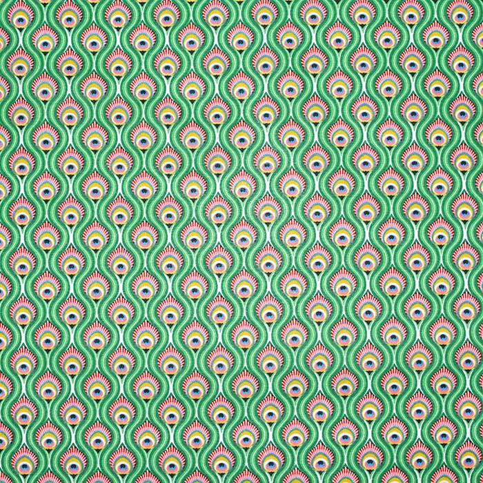 Bombaž, poplin, ornamentni, 23502-1, zelena