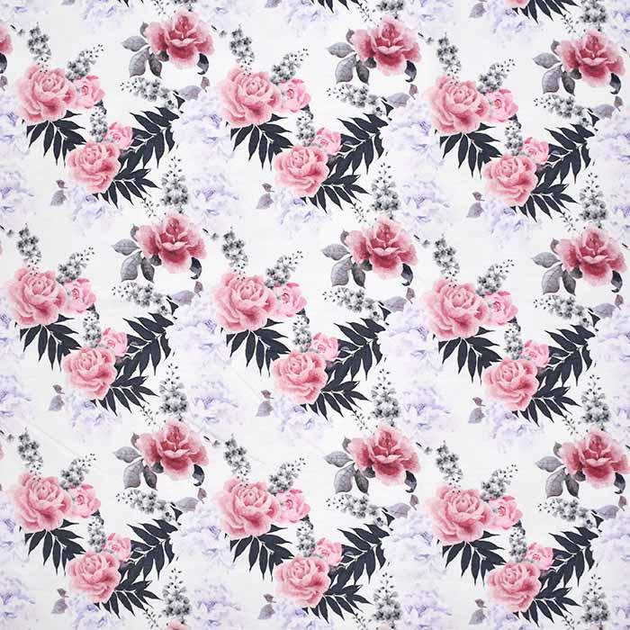 Jersey, bombaž, digital, cvetlični, 23505-4