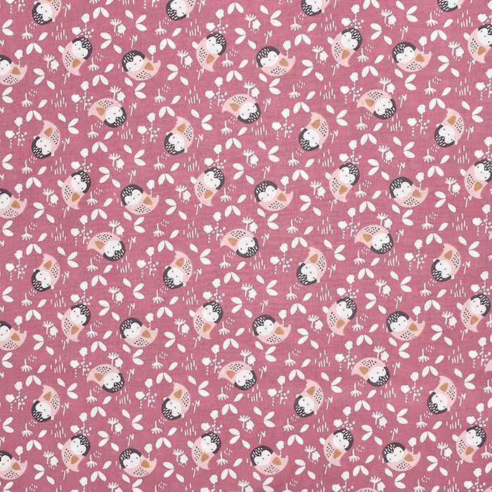 Bombaž, poplin, živalski, 23552-2, roza