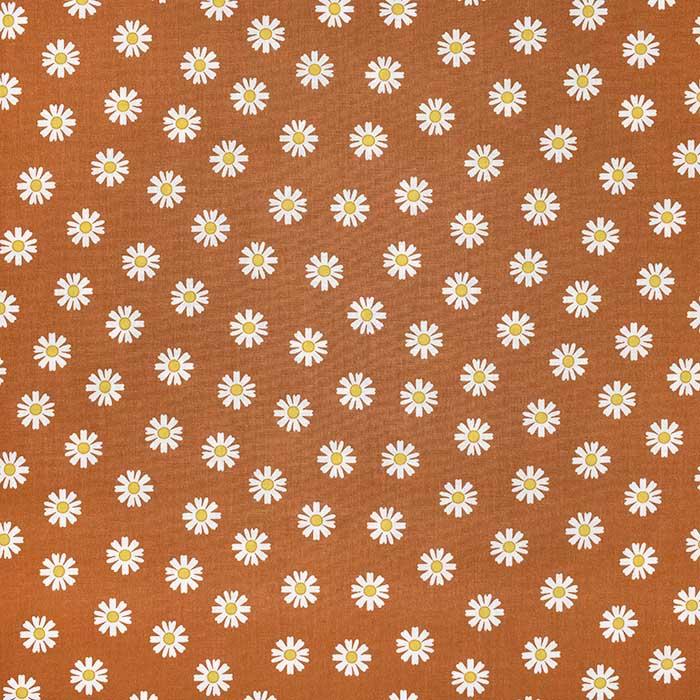 Bombaž, poplin, cvetlični, 23414-017, opečna