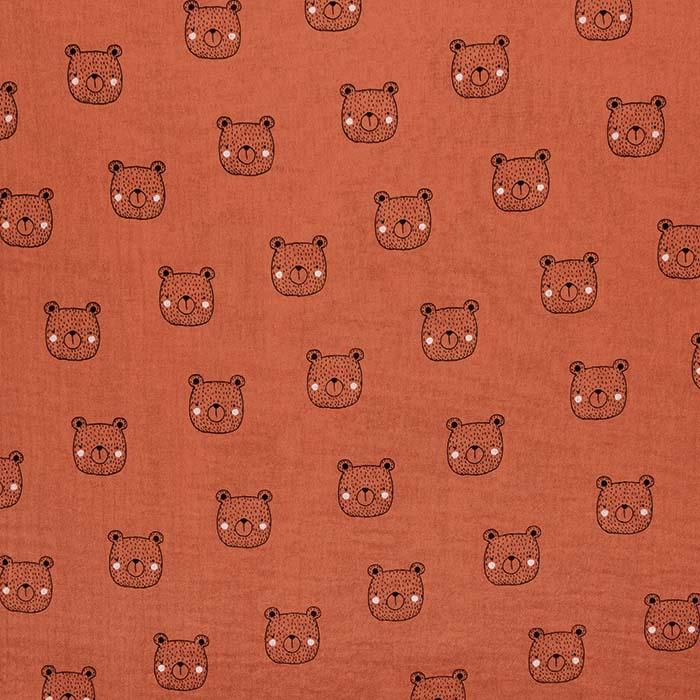 Tetra tkanina, dvojna, živalski, 23546-009, opečna