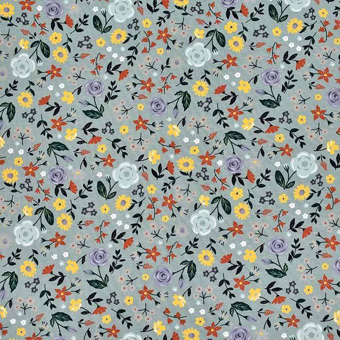 Jersey, pamuk, cvjetni, 11427-023, zelena