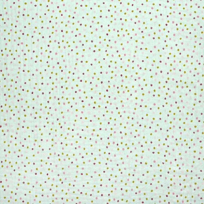 Tetra tkanina, dvojna, pikice, 23645-014, mint