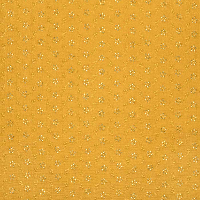 Tetra tkanina, dvojna, rišelje, cvetlični, 23450-023, oker