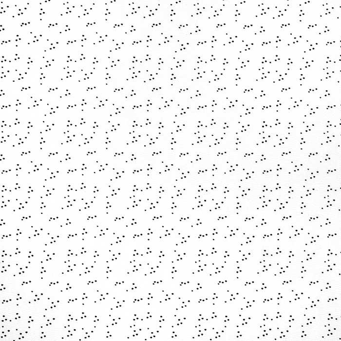 Bombaž, poplin, pikice, 23800-02, bela