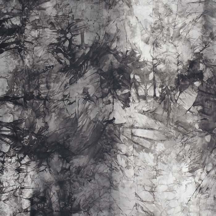 Poliamid, elastan, mat, tie-dye, 23850-9, siva