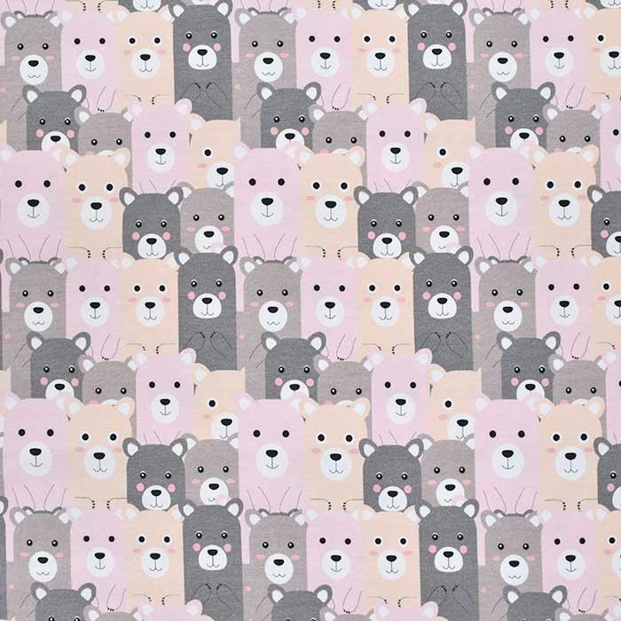 Jersey, bombaž, digital, živalski, 23505-29, roza