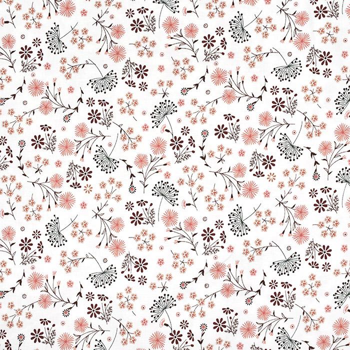 Jersey, bombaž, cvetlični, 24161-051, smetana