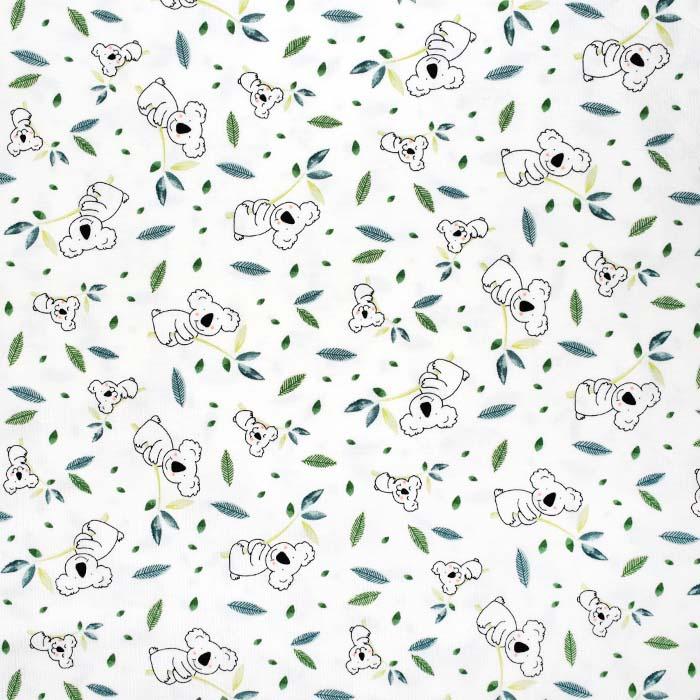 Jersey, bombaž, živalski, 24162-050, bela