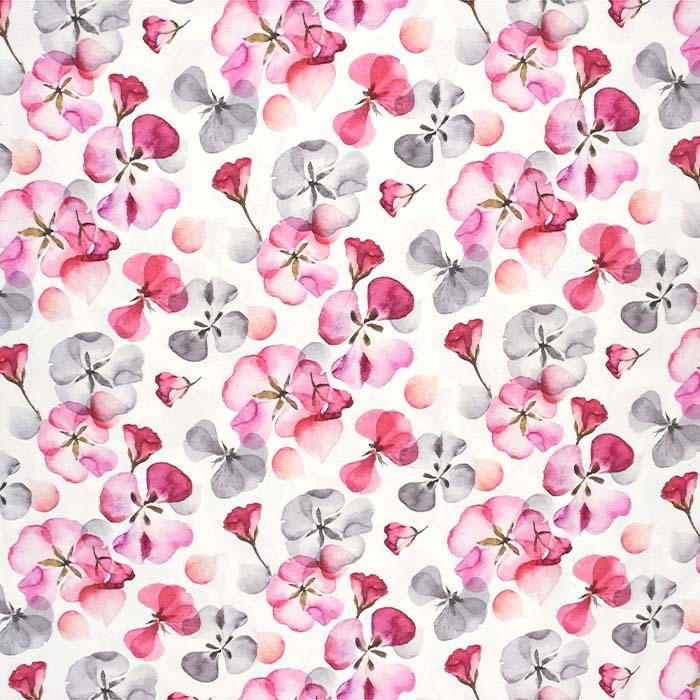 Jersey, viskoza, digital, cvetlični, 24303-4, smetana