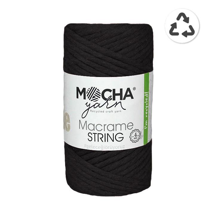 Pređa, Macrame String 4 mm, 24315-2, crna
