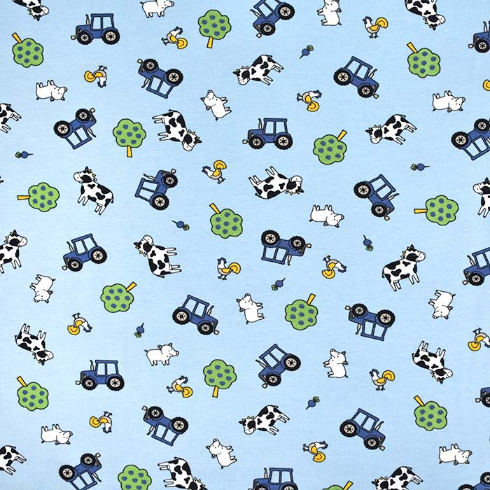 Jersey, bombaž, otroški, 25201-26, modra