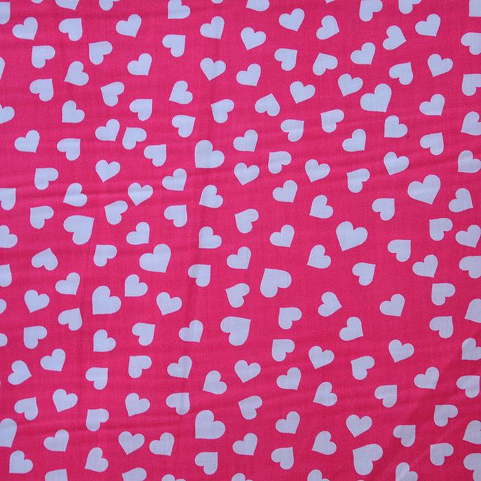 Cotton, poplin, hearts, 12465-02, pink